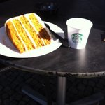 carrot cake and espresso