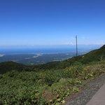 8合目からの景色、海岸線がきれいに見える