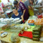 Stall selling Banh Beo Hue VND15,000