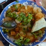 Banh Beo Hue - Sweet fish sauce flat noddle. Very good