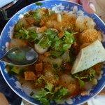 Banh Beo Hue - Sweet fish sauce flat noddle. Very good