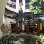 Atrium with coy fish pond