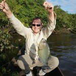 dug out canoe piranha fishing