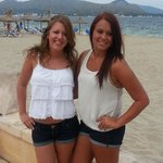 Two beautiful young ladies posing