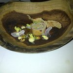 Main course in wooden bowl