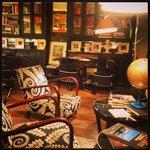 The 'honesty bar' lounge area