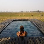 Plunge pool at Xarrana tented Camp Botswana
