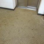 verdreckter Teppich in Eingangsbereich,Nebengebäude