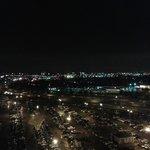 Vista de Toronto da janela do quarto