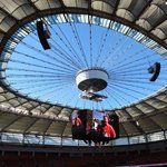 BC Place with the roof open