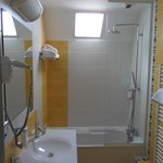 Bath/shower area, room 202