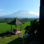 La vue superbe sur le Gunung Agung