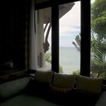 Sea view from pavilion's interior.