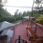 View from the deck dining area.