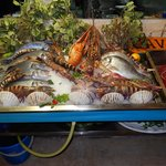 Fresh sea food available at Cavo  D'Oro Rethymno Crete