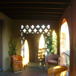 one of many relaxing patio areas