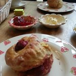 strawberry and plain scones