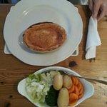 steak pie and four veg