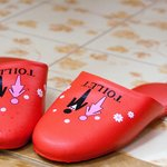 Toilet slippers provided at Fuji-Hakone guest house