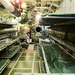 Forward torpedo room, USS Silversides