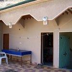 Terrasse avec accès aux dortoirs