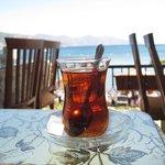 Turkish tea at Mine'm Restaurant