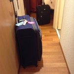 Luggage bags coordination before entering the room
