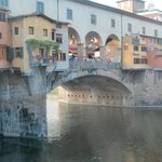View of the Ponte Veccio from our table
