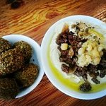 Falafel and hummus with meat