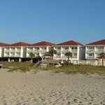 View of rooms from the beach