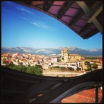 view of elciego from the restaurant