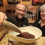 Over 50 varieties and flavors of whole bean coffees