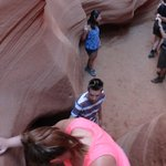 Entrance ladder to LOWER Antelope Canyon (most difficult)