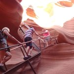 Stairs leaving Lower Antelope Canyon