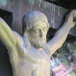 crucifix at St Castulus Church garden