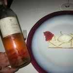Sauterne and biscuit