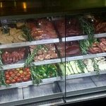 meat selection for the grill, ostrich, steak, lamb, kangaroo, pork and chicken