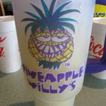 Pineapple Willy Specialty drink in 32 oz take home mug