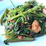 shrimp and kang kong - yummy!