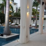 the front lobby and pool area