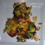 Great Crab Cakes with Mango Salsa.