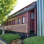 Antique dining car, feature of hotel steak house restaurant