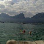 Delicioso baño en el lago