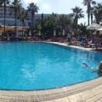 panorama of the hotel and pool