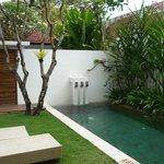 outdoor villa area with pool