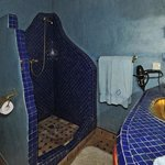 Coin toilettes de la chambre bleue