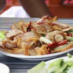 fried sliced pork ( kau rou )