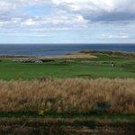 Berwick golf course and coast of the North Sea