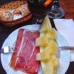 Vorspeise Melone mit Schinken
