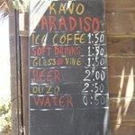 listino bar
